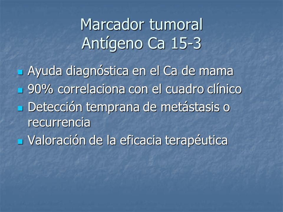 Marcador tumoral Antígeno Ca 15-3