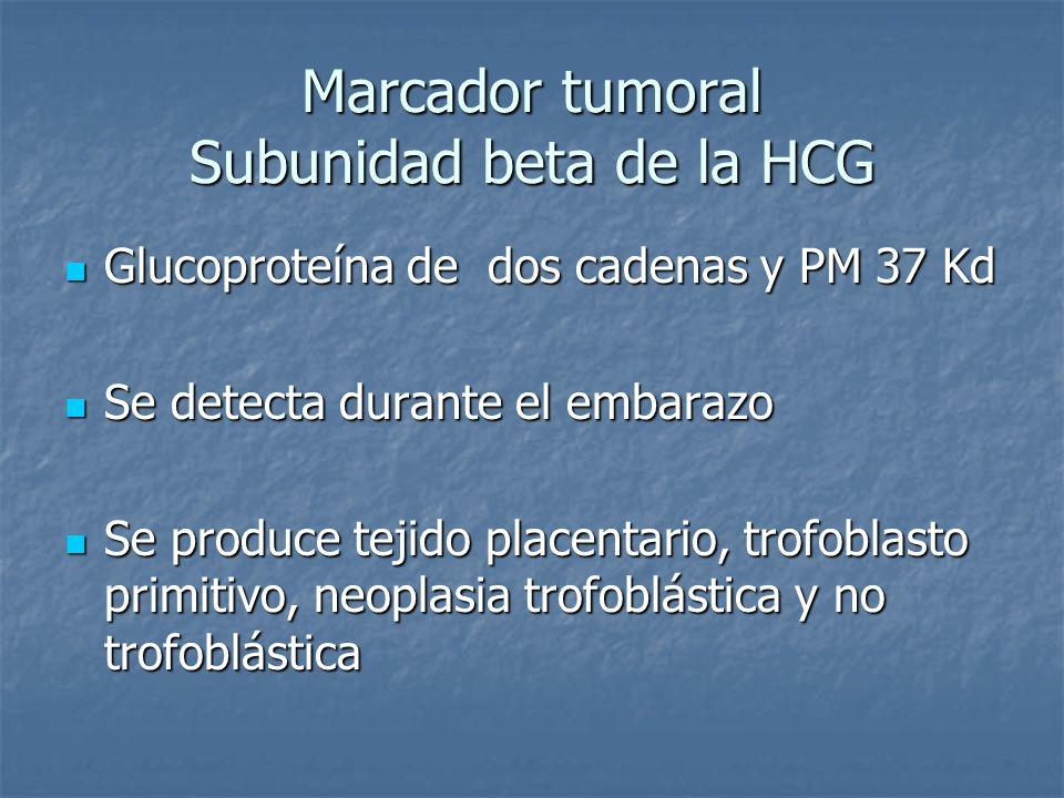 Marcador tumoral Subunidad beta de la HCG