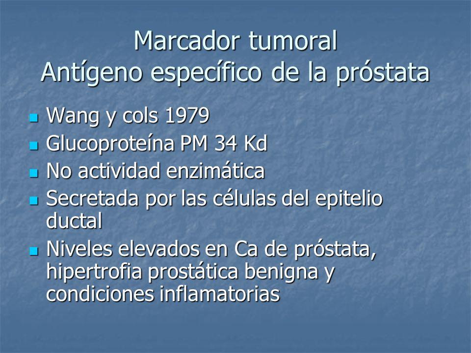 Marcador tumoral Antígeno específico de la próstata