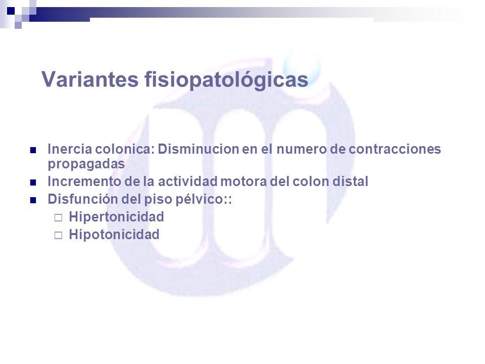 Variantes fisiopatológicas
