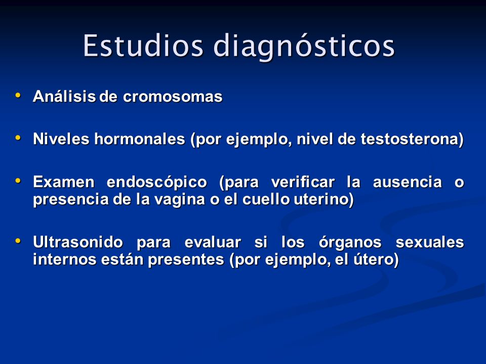 Estudios diagnósticos
