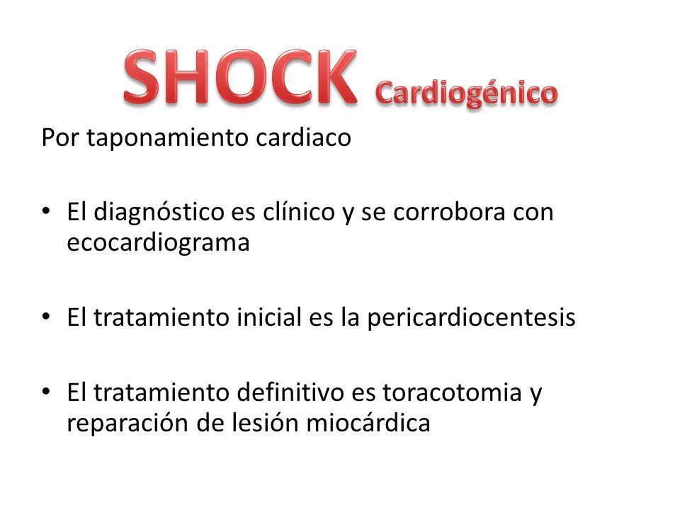 SHOCK Cardiogénico Por taponamiento cardiaco
