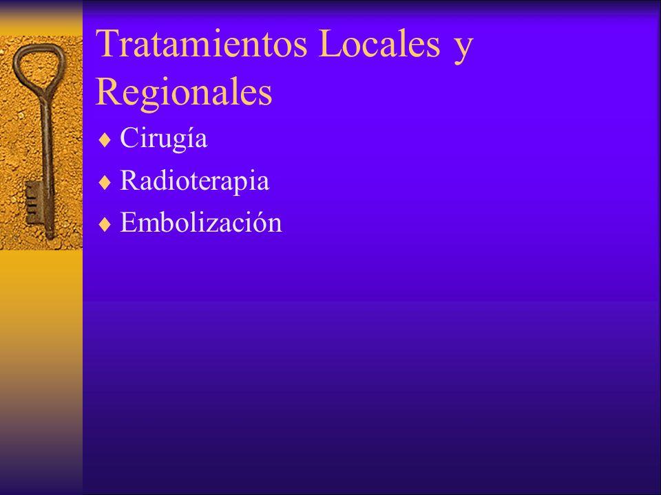 Tratamientos Locales y Regionales