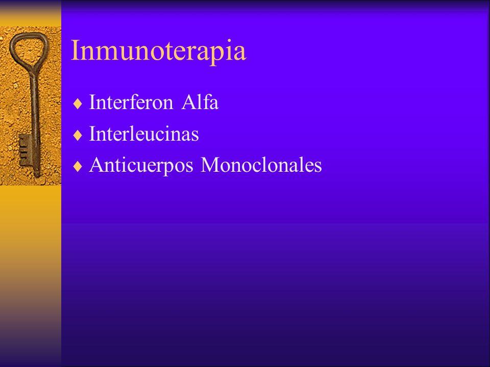 Inmunoterapia Interferon Alfa Interleucinas Anticuerpos Monoclonales
