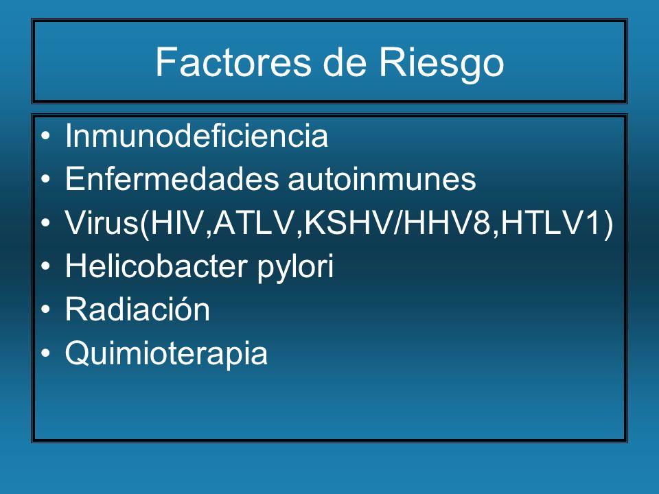 Factores de Riesgo Inmunodeficiencia Enfermedades autoinmunes