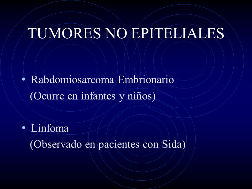 TUMORES NO EPITELIALES