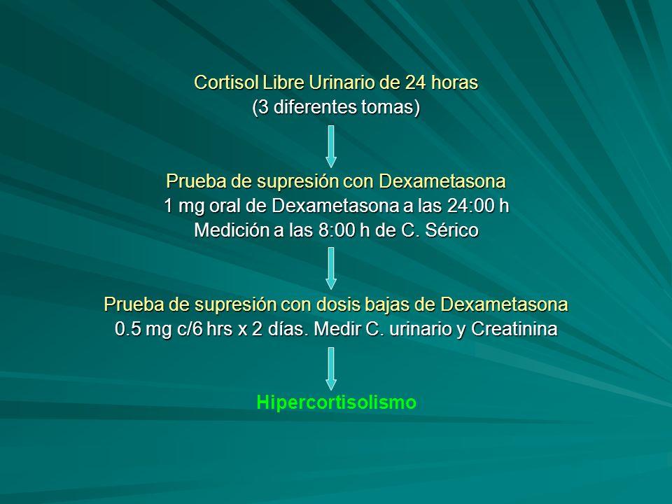 Cortisol Libre Urinario de 24 horas (3 diferentes tomas)
