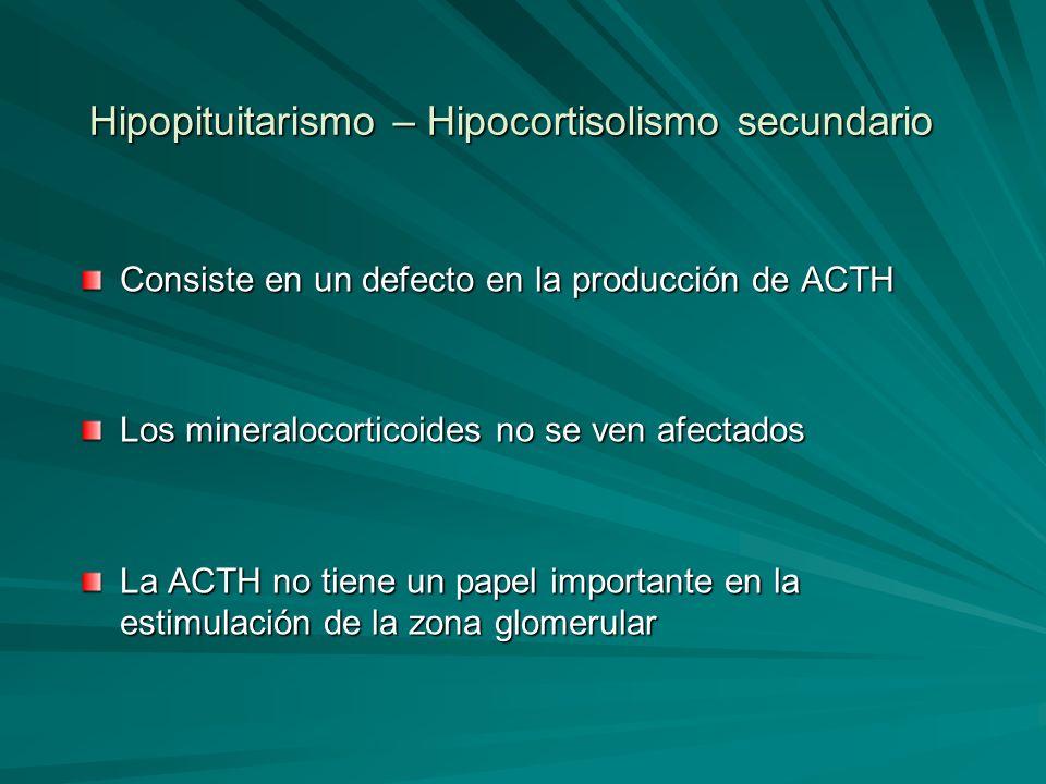 Hipopituitarismo – Hipocortisolismo secundario