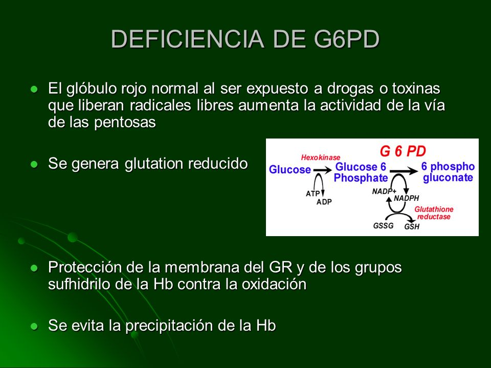 DEFICIENCIA DE G6PD