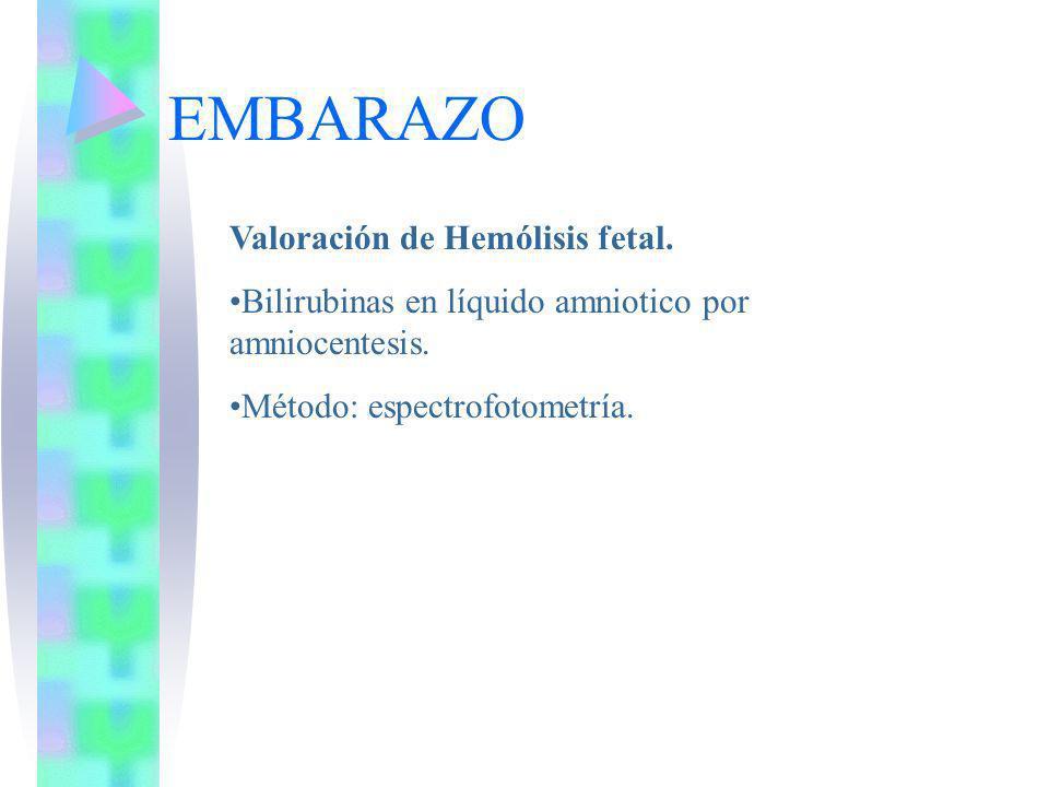 EMBARAZO Valoración de Hemólisis fetal.