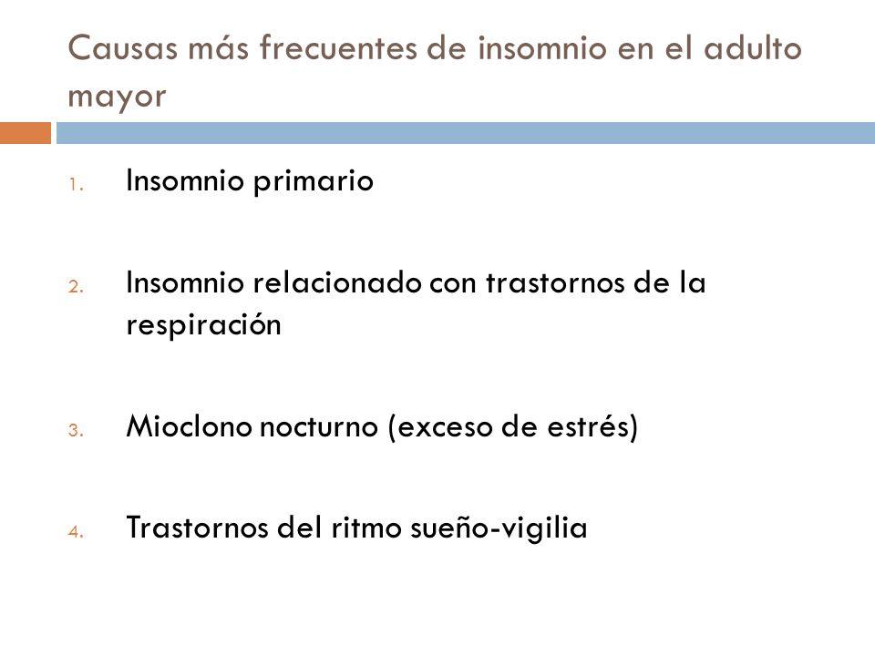 Causas más frecuentes de insomnio en el adulto mayor