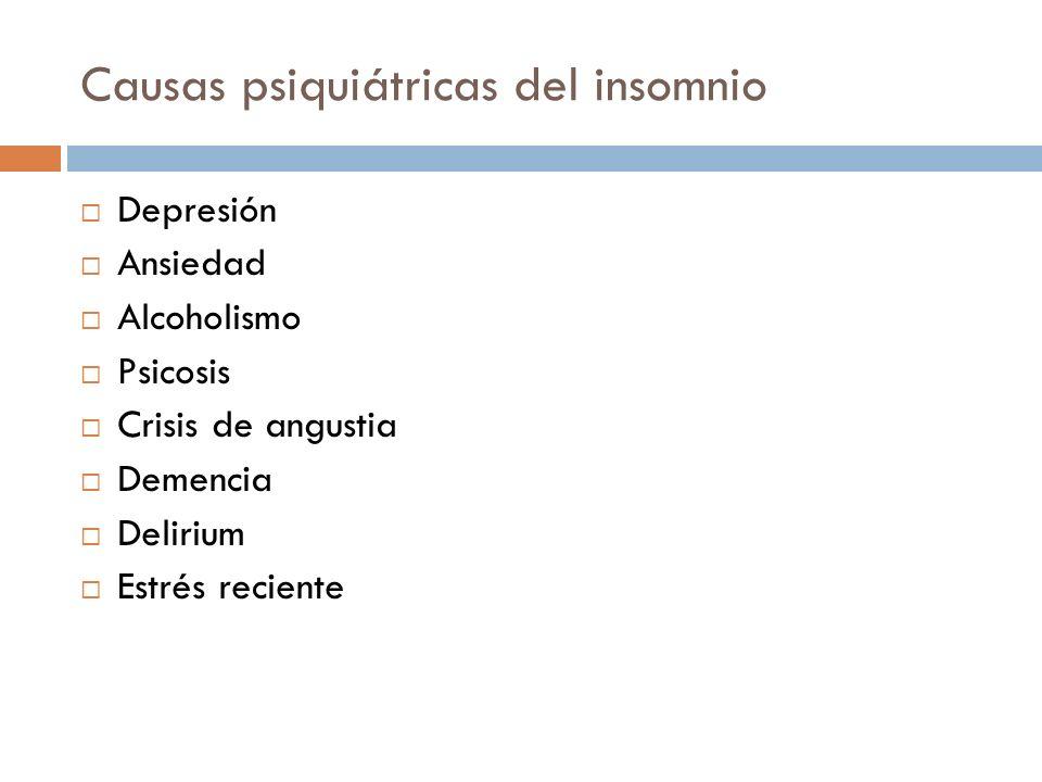 Causas psiquiátricas del insomnio