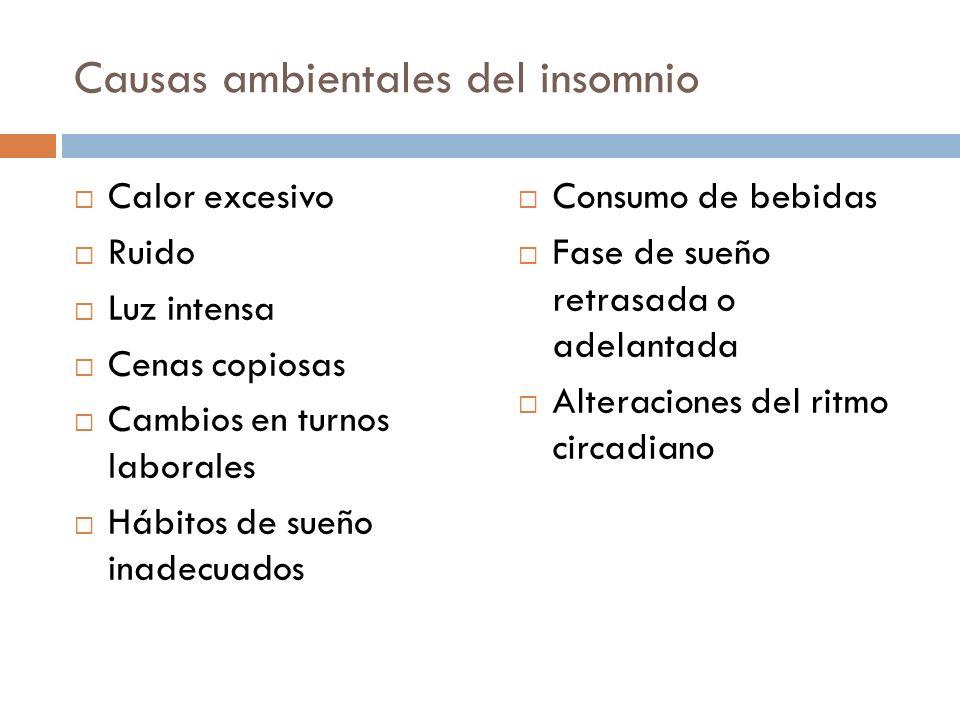 Causas ambientales del insomnio