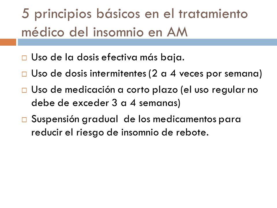 5 principios básicos en el tratamiento médico del insomnio en AM