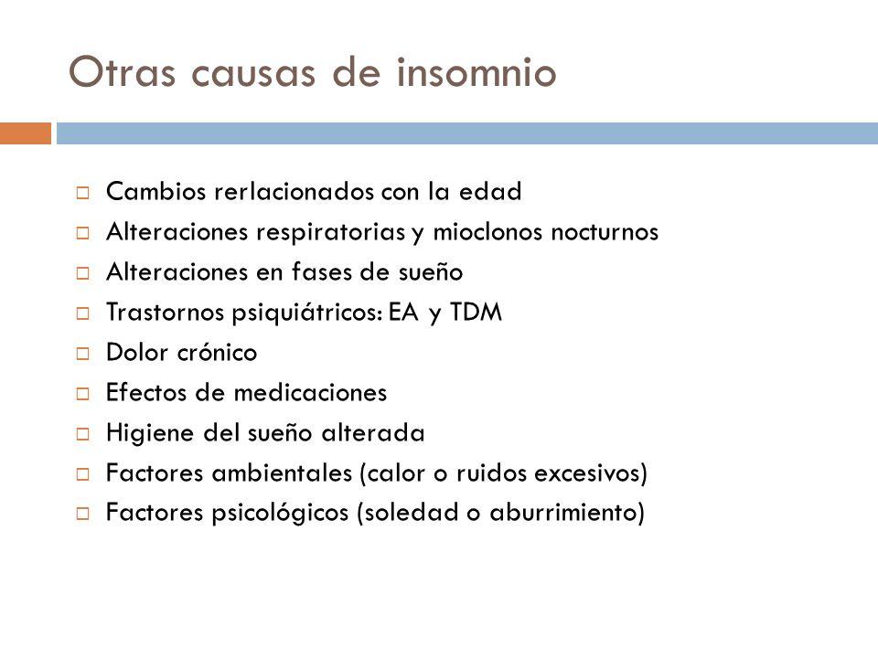 Otras causas de insomnio