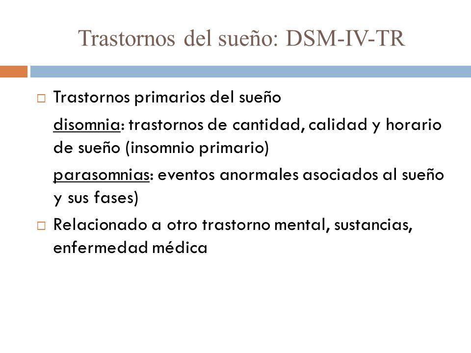 Trastornos del sueño: DSM-IV-TR