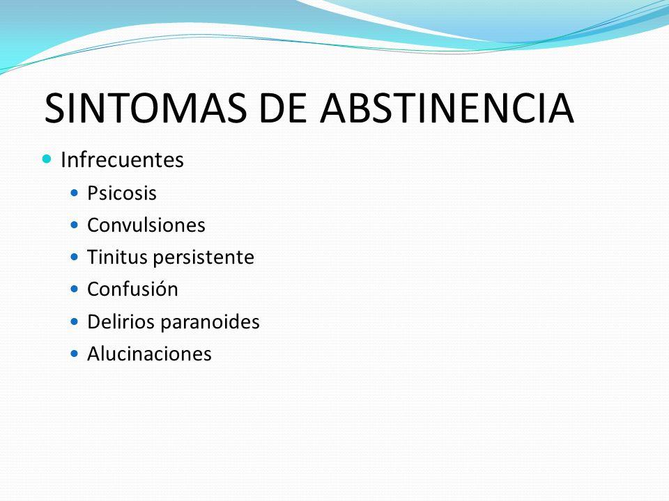 SINTOMAS DE ABSTINENCIA