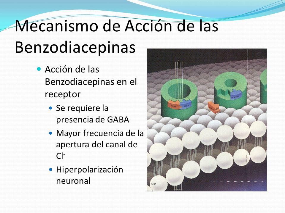 Mecanismo de Acción de las Benzodiacepinas