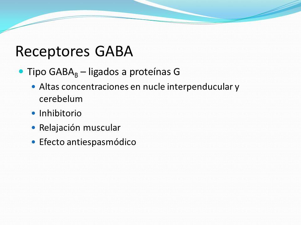 Receptores GABA Tipo GABAB – ligados a proteínas G