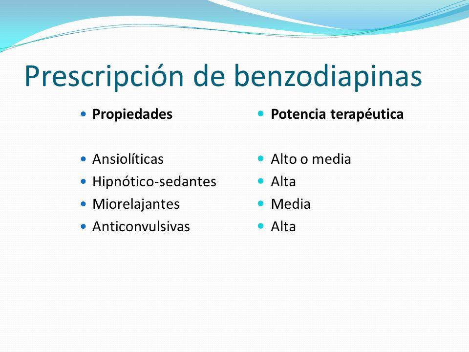 Prescripción de benzodiapinas
