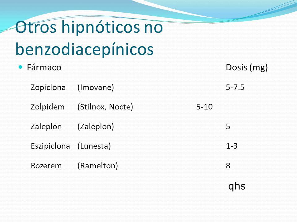 Otros hipnóticos no benzodiacepínicos