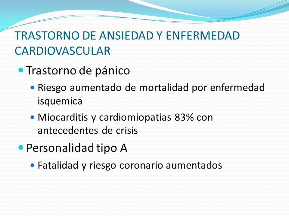 TRASTORNO DE ANSIEDAD Y ENFERMEDAD CARDIOVASCULAR