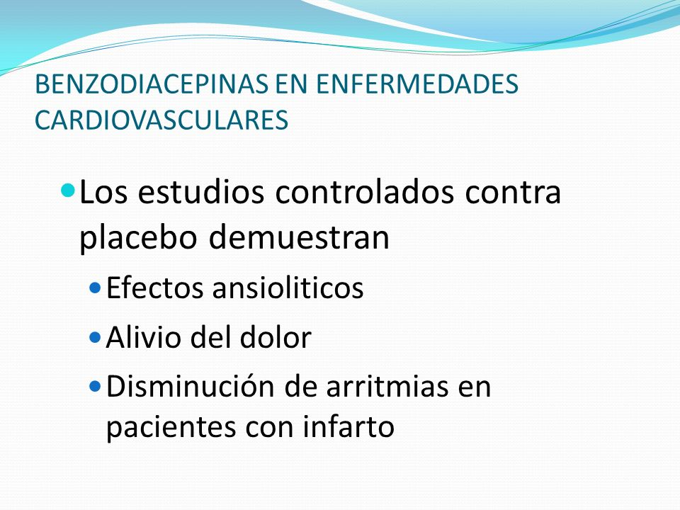 BENZODIACEPINAS EN ENFERMEDADES CARDIOVASCULARES