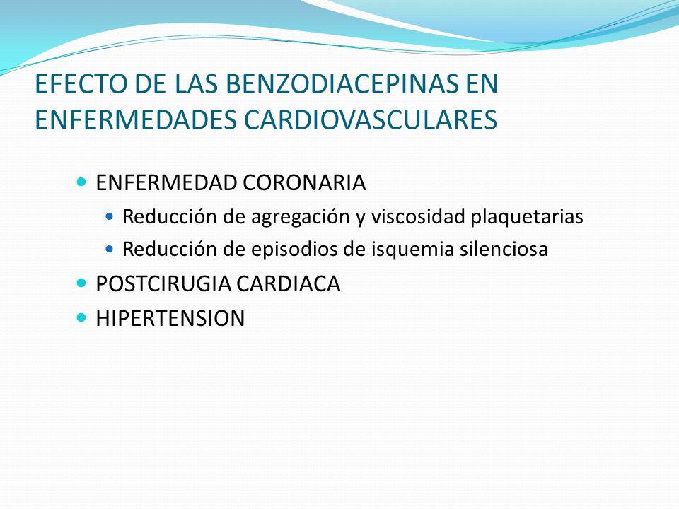 EFECTO DE LAS BENZODIACEPINAS EN ENFERMEDADES CARDIOVASCULARES