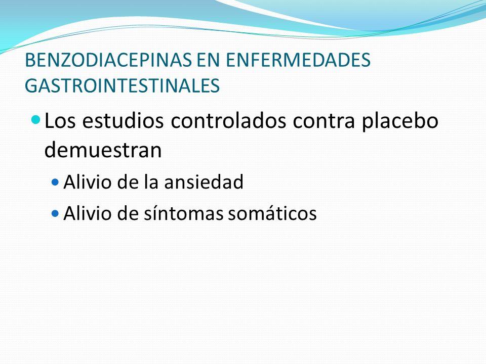 BENZODIACEPINAS EN ENFERMEDADES GASTROINTESTINALES