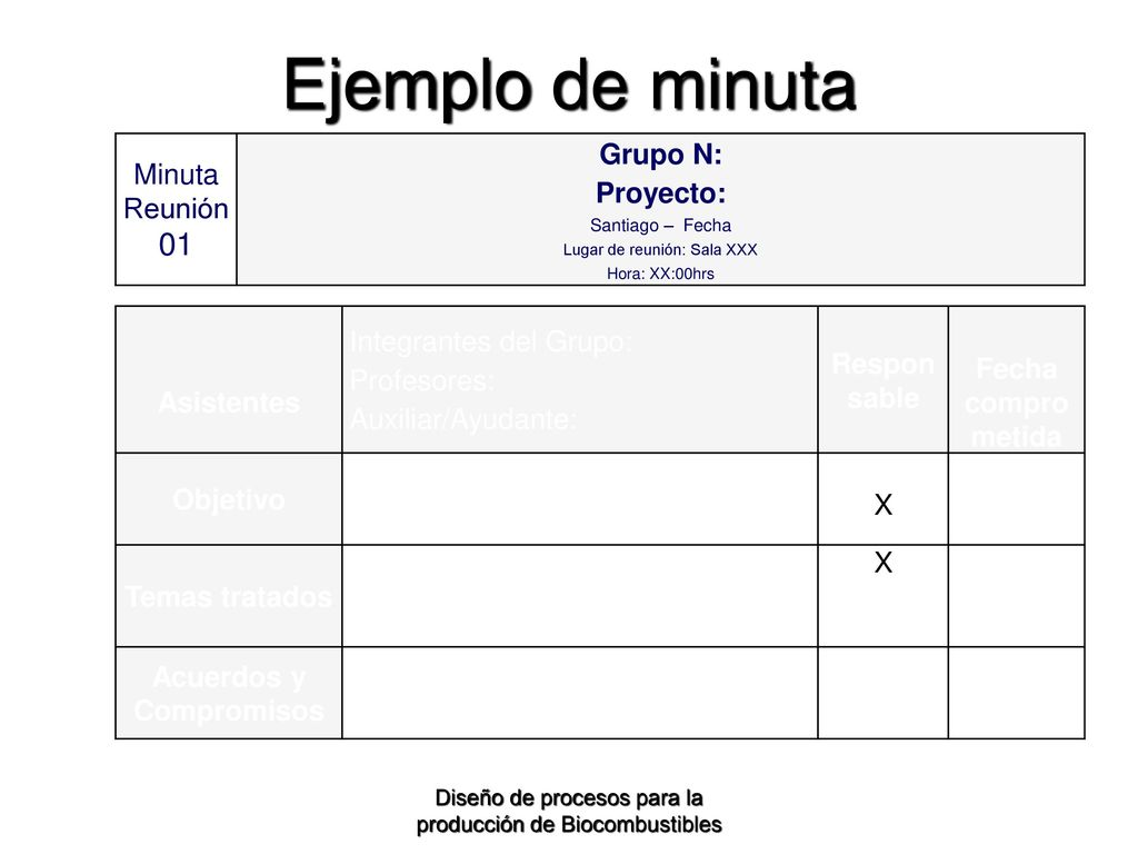 ejemplos de minutas de reuniones