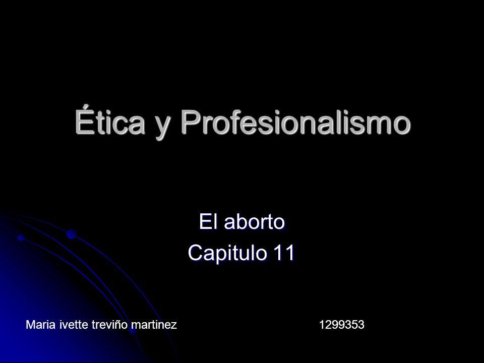 Ética y Profesionalismo
