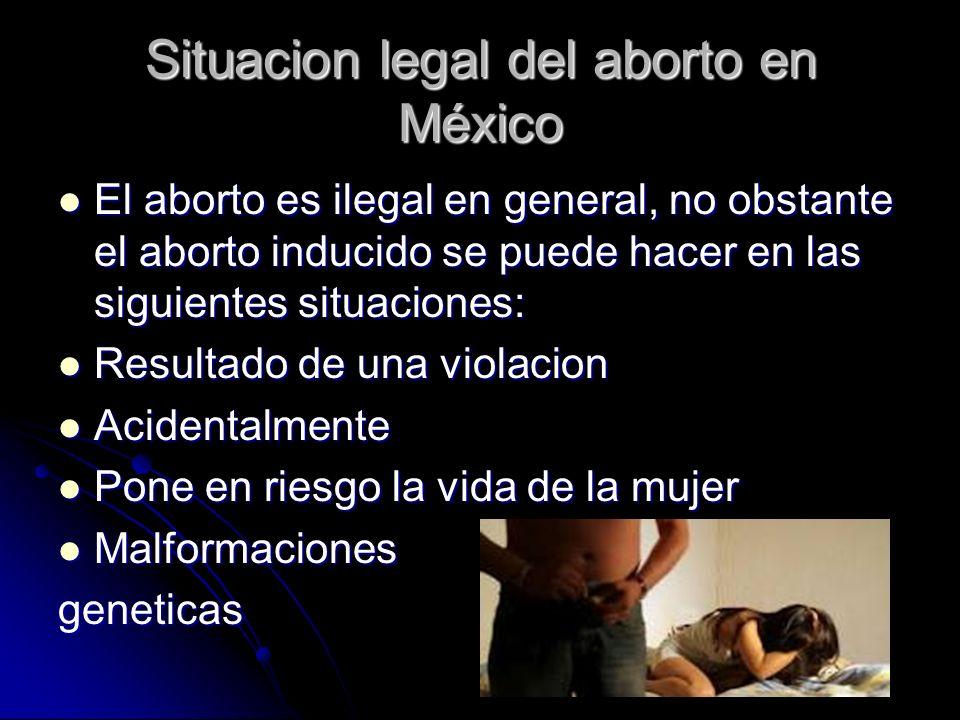 Situacion legal del aborto en México