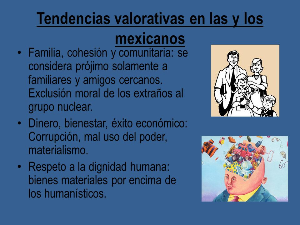 Tendencias valorativas en las y los mexicanos