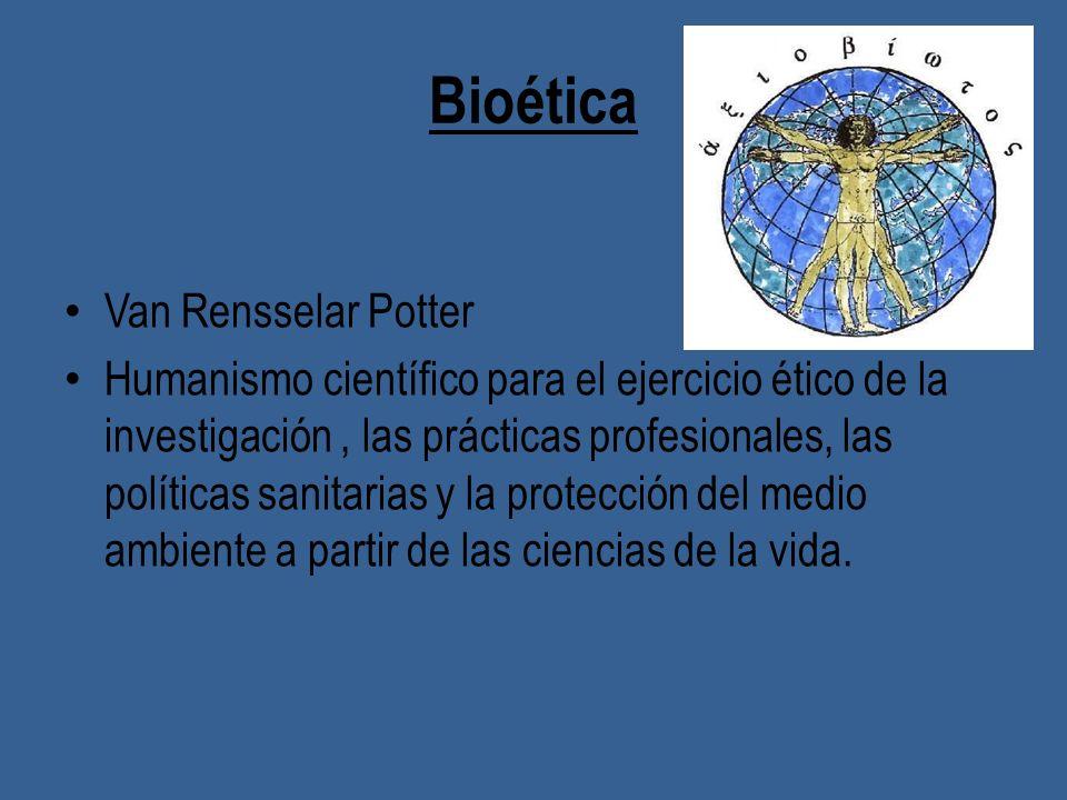 Bioética Van Rensselar Potter
