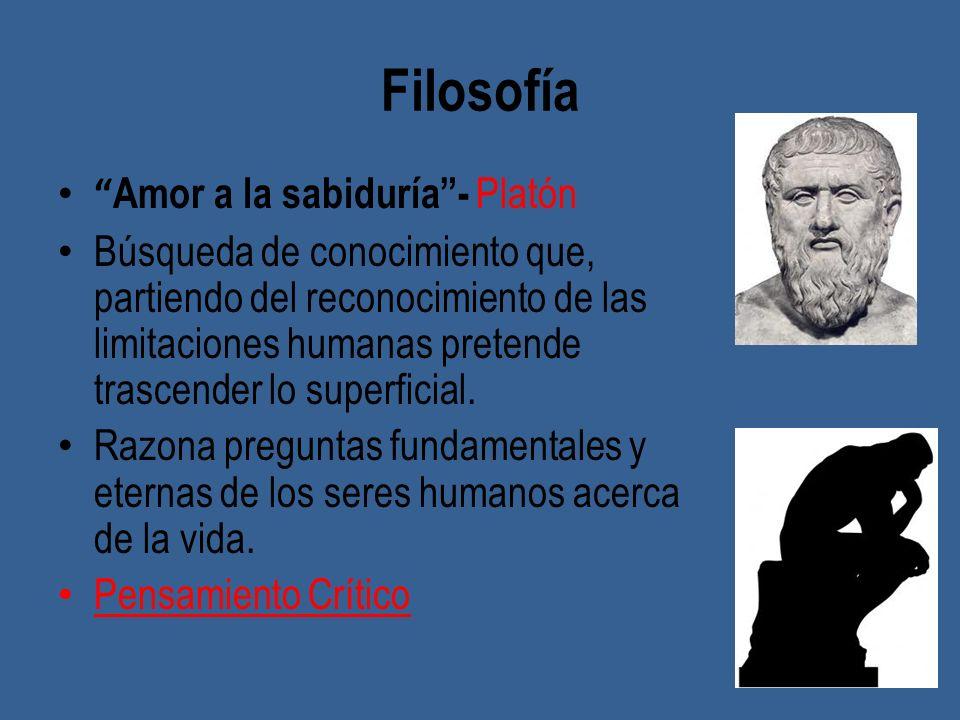 Filosofía Amor a la sabiduría - Platón