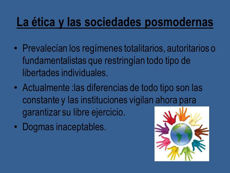 La ética y las sociedades posmodernas