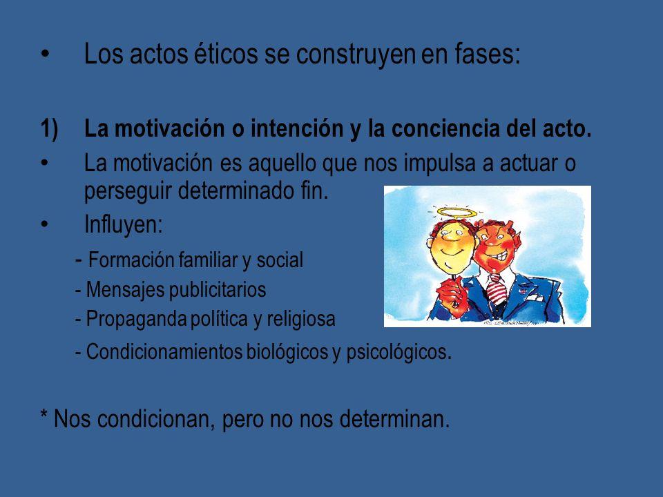 Los actos éticos se construyen en fases: