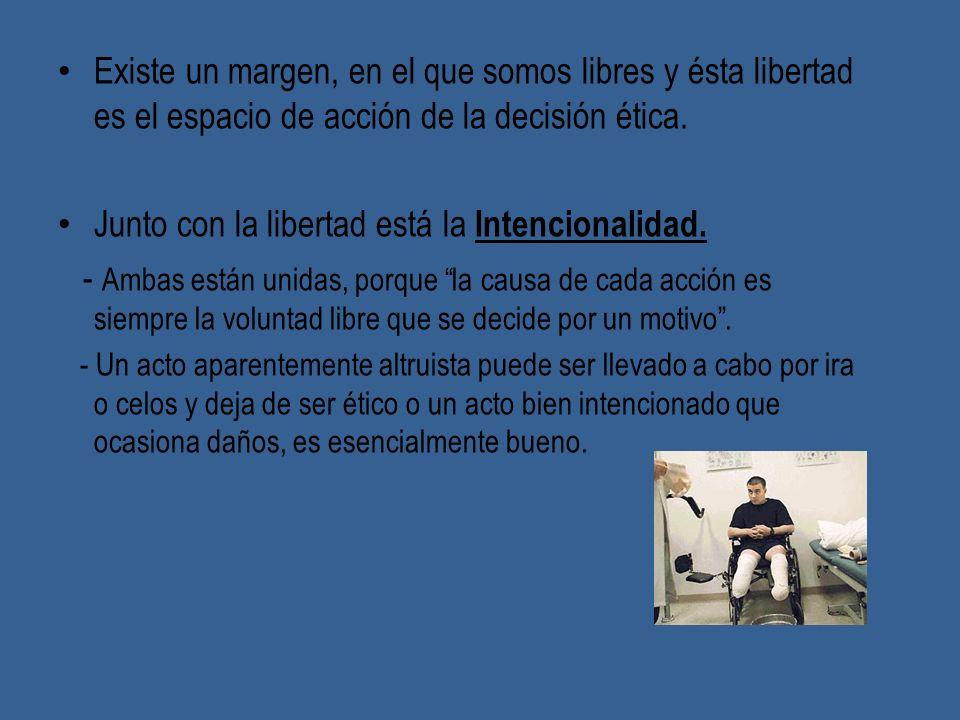 Junto con la libertad está la Intencionalidad.