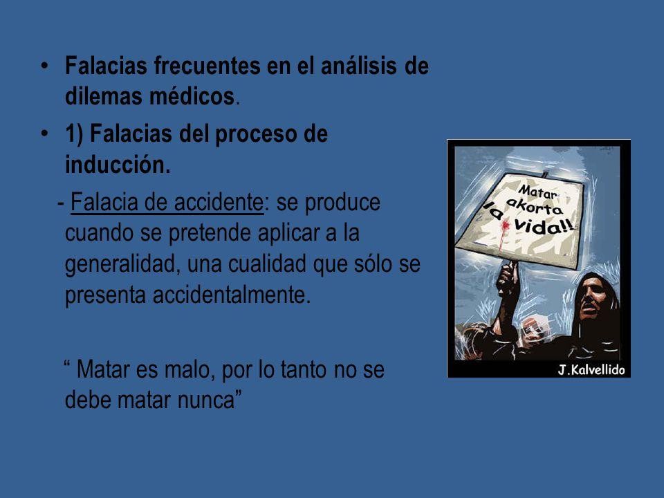 Falacias frecuentes en el análisis de dilemas médicos.