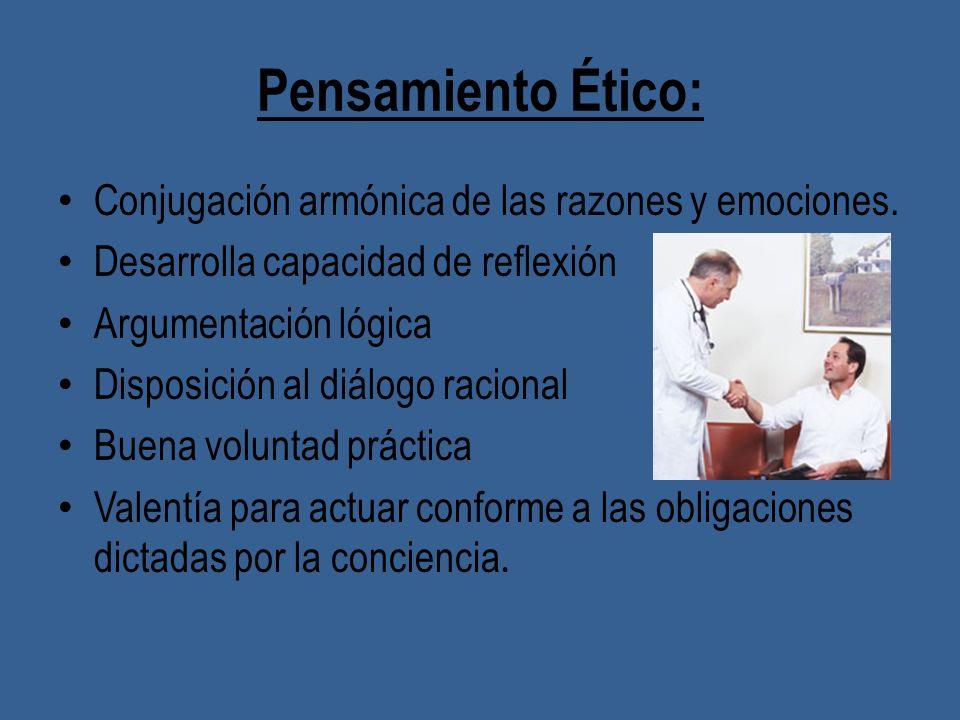Pensamiento Ético: Conjugación armónica de las razones y emociones.