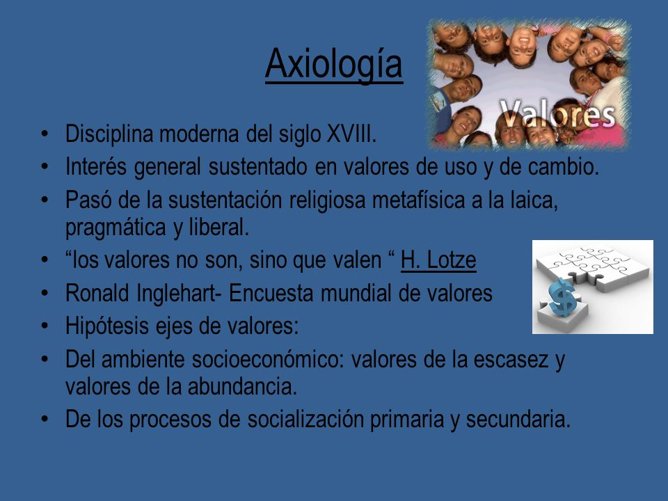Axiología Disciplina moderna del siglo XVIII.
