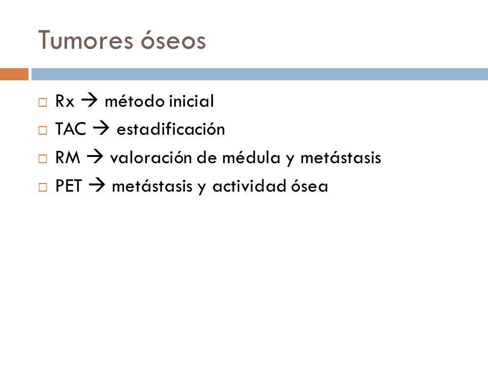Tumores óseos Rx  método inicial TAC  estadificación