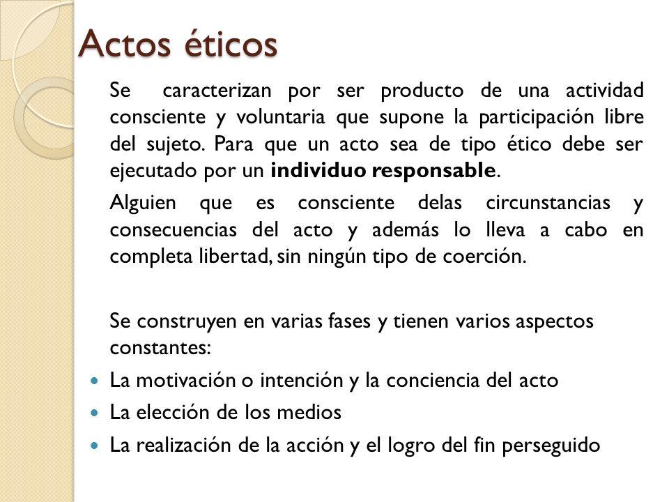 Actos éticos