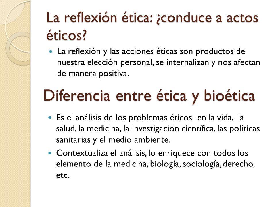 La reflexión ética: ¿conduce a actos éticos