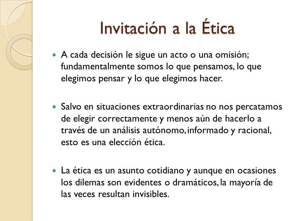 Invitación a la Ética