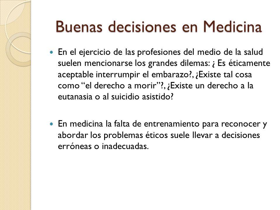 Buenas decisiones en Medicina