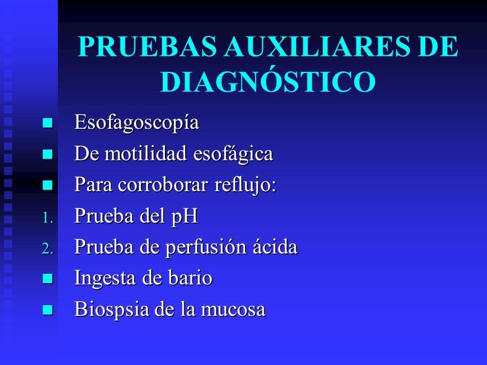 PRUEBAS AUXILIARES DE DIAGNÓSTICO