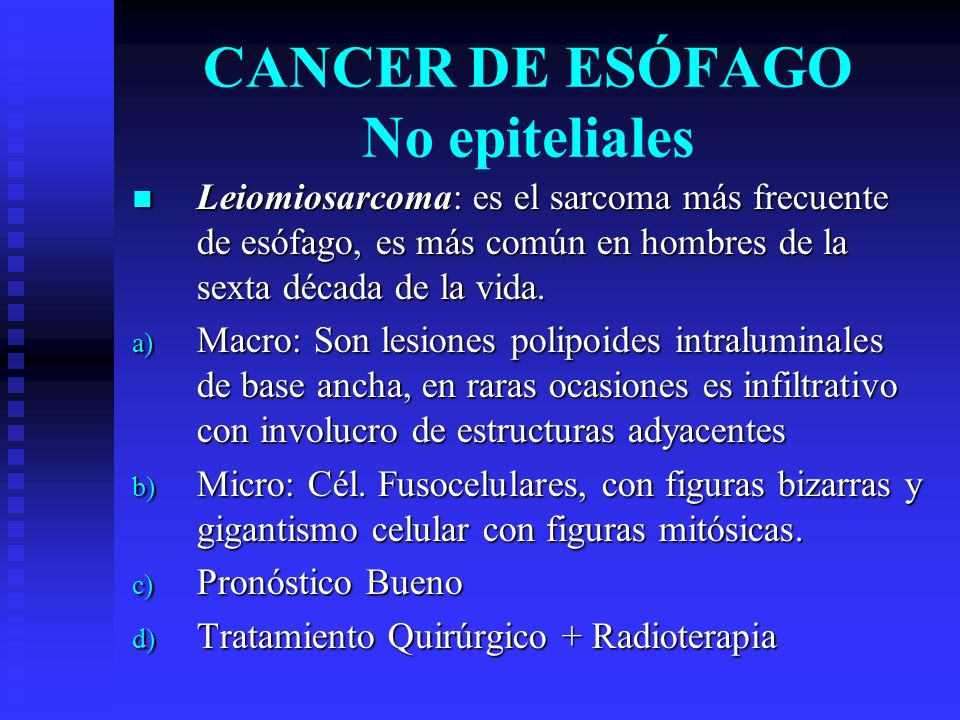 CANCER DE ESÓFAGO No epiteliales