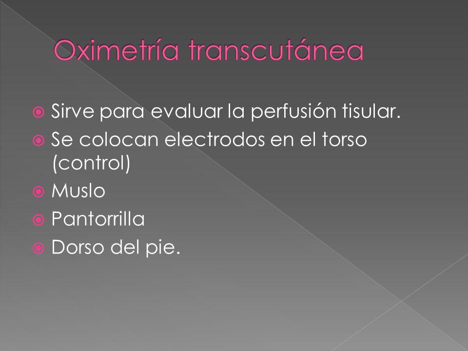 Oximetría transcutánea
