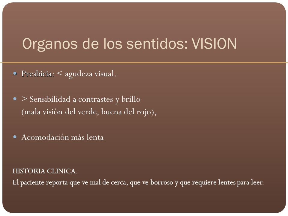 Organos de los sentidos: VISION